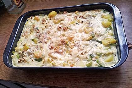 Kartoffel-Lauch-Auflauf mit Schinken 8
