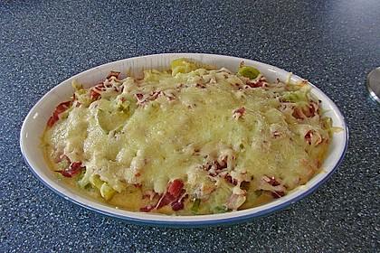 Kartoffel-Lauch-Auflauf mit Schinken 5