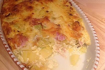Kartoffel-Lauch-Auflauf mit Schinken 9