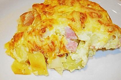 Kartoffel-Lauch-Auflauf mit Schinken 4