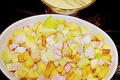 Kartoffel-Lauch-Auflauf mit Schinken 17