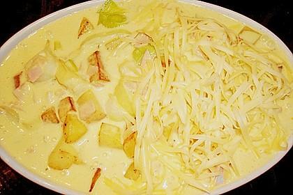 Kartoffel-Lauch-Auflauf mit Schinken 15