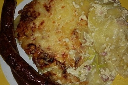 Kartoffel-Lauch-Auflauf mit Schinken 16