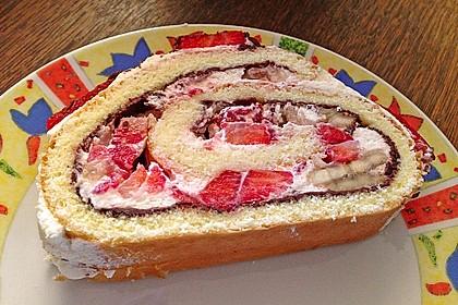 Erdbeer-Sahnerolle 75