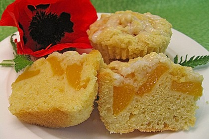 Goldige Pfirsichmuffins 3