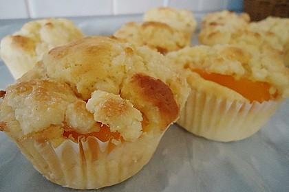 Goldige Pfirsichmuffins 17