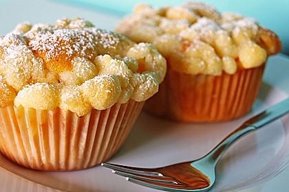 Goldige Pfirsichmuffins