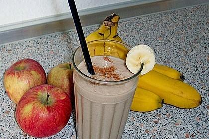 Apfel - Zimt - Bananen - Getränk 5