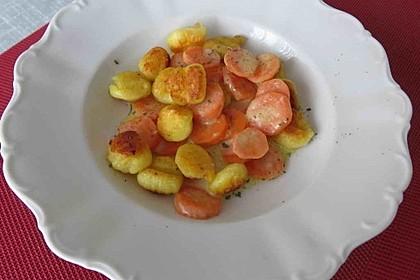 Gnocchi mit Rahm - Möhren 1