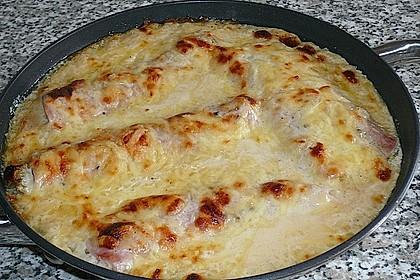 Chicoree mit Schinken und Käsesauce 1