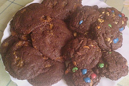 Schoko - Cookies mit Karamell - Kern 15