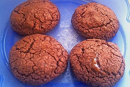 Schoko - Cookies mit Karamell - Kern 6