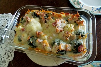 Blumenkohl - Brokkoli - Kartoffelauflauf 6