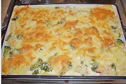 Blumenkohl - Brokkoli - Kartoffelauflauf 9