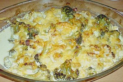 Blumenkohl - Brokkoli - Kartoffelauflauf 13