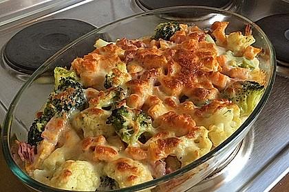 Blumenkohl - Brokkoli - Kartoffelauflauf 3