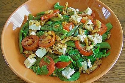 Grüne Bohnen mit Tomaten - Ruccola - Schafskäse Salat 0