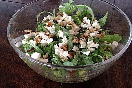 Grüne Bohnen mit Tomaten - Ruccola - Schafskäse Salat 2