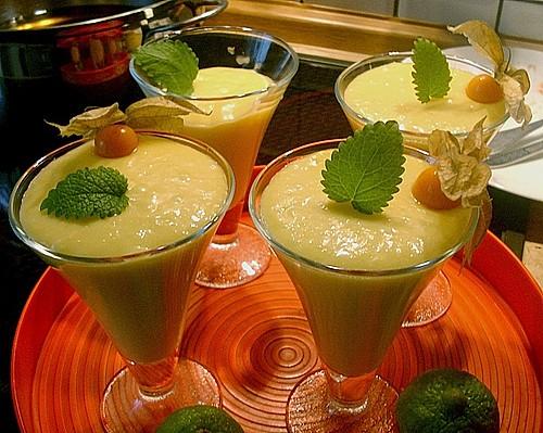 fruchtig leckere mangocreme rezept mit bild von samsara. Black Bedroom Furniture Sets. Home Design Ideas