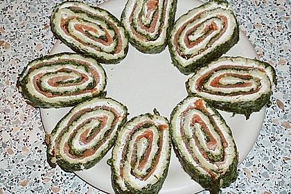 Lachsrolle mit Spinat und Frischkäse 19