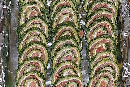 Lachsrolle mit Spinat und Frischkäse 12