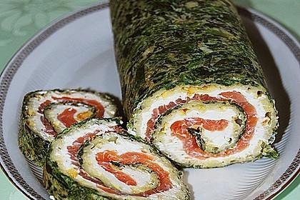 Lachsrolle mit Spinat und Frischkäse 28