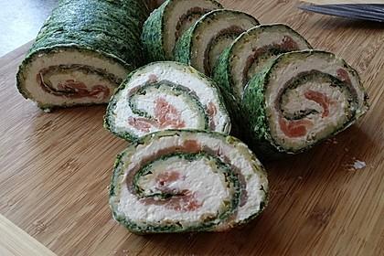 Lachsrolle mit Spinat und Frischkäse 76