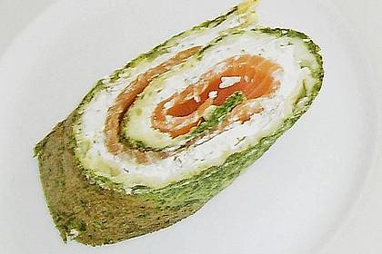 Lachsrolle mit Spinat und Frischkäse 143