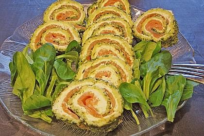 Lachsrolle mit Spinat und Frischkäse 48