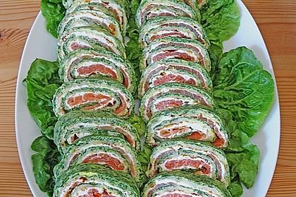 Lachsrolle mit Spinat und Frischkäse 61
