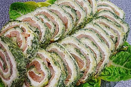 Lachsrolle mit Spinat und Frischkäse 46