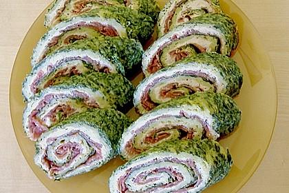 Lachsrolle mit Spinat und Frischkäse 120
