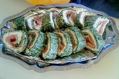 Lachsrolle mit Spinat und Frischkäse 62
