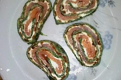 Lachsrolle mit Spinat und Frischkäse 152