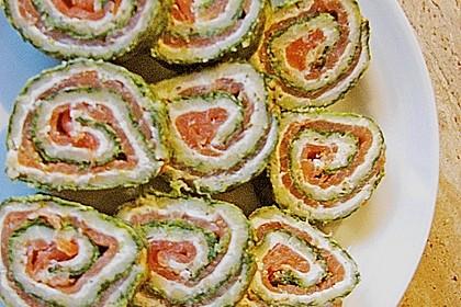 Lachsrolle mit Spinat und Frischkäse 81