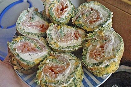 Lachsrolle mit Spinat und Frischkäse 147