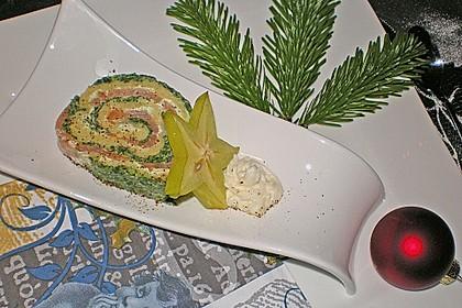 Lachsrolle mit Spinat und Frischkäse 26