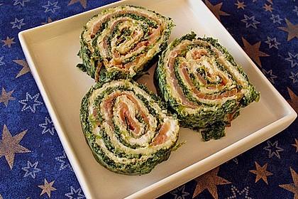 Lachsrolle mit Spinat und Frischkäse 66