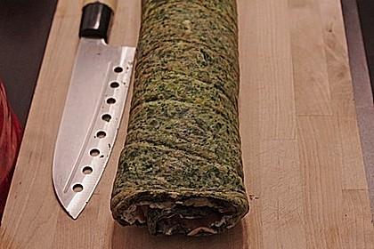 Lachsrolle mit Spinat und Frischkäse 71