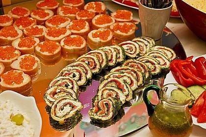 Lachsrolle mit Spinat und Frischkäse 1