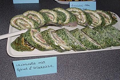 Lachsrolle mit Spinat und Frischkäse 67