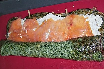 Lachsrolle mit Spinat und Frischkäse 53