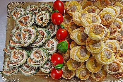 Lachsrolle mit Spinat und Frischkäse 22