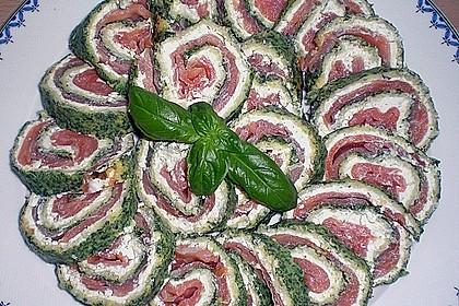 Lachsrolle mit Spinat und Frischkäse 64