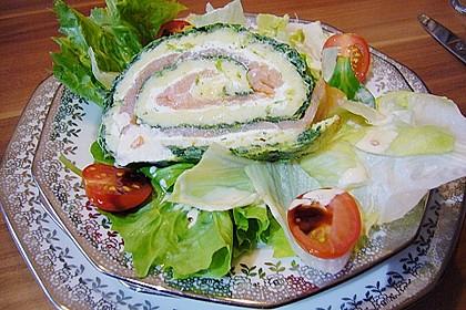 Lachsrolle mit Spinat und Frischkäse 117