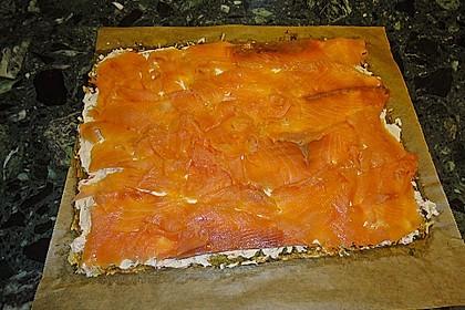 Lachsrolle mit Spinat und Frischkäse 94