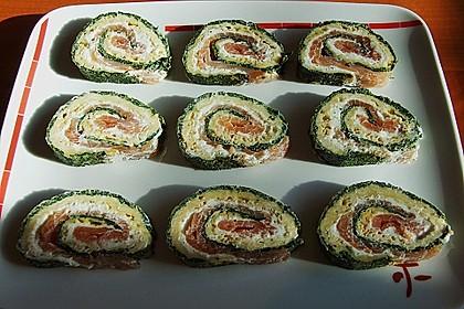 Lachsrolle mit Spinat und Frischkäse 84