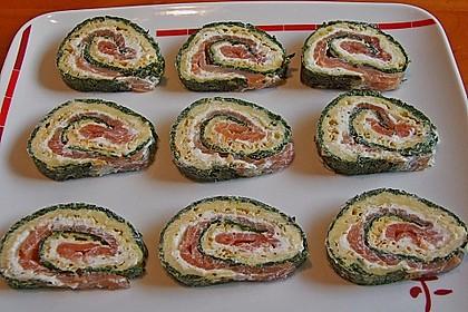 Lachsrolle mit Spinat und Frischkäse 6