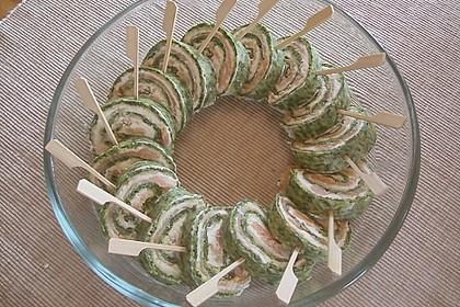 Lachsrolle mit Spinat und Frischkäse 72