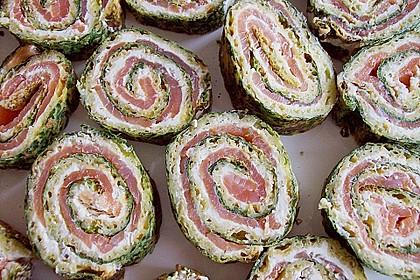 Lachsrolle mit Spinat und Frischkäse 42